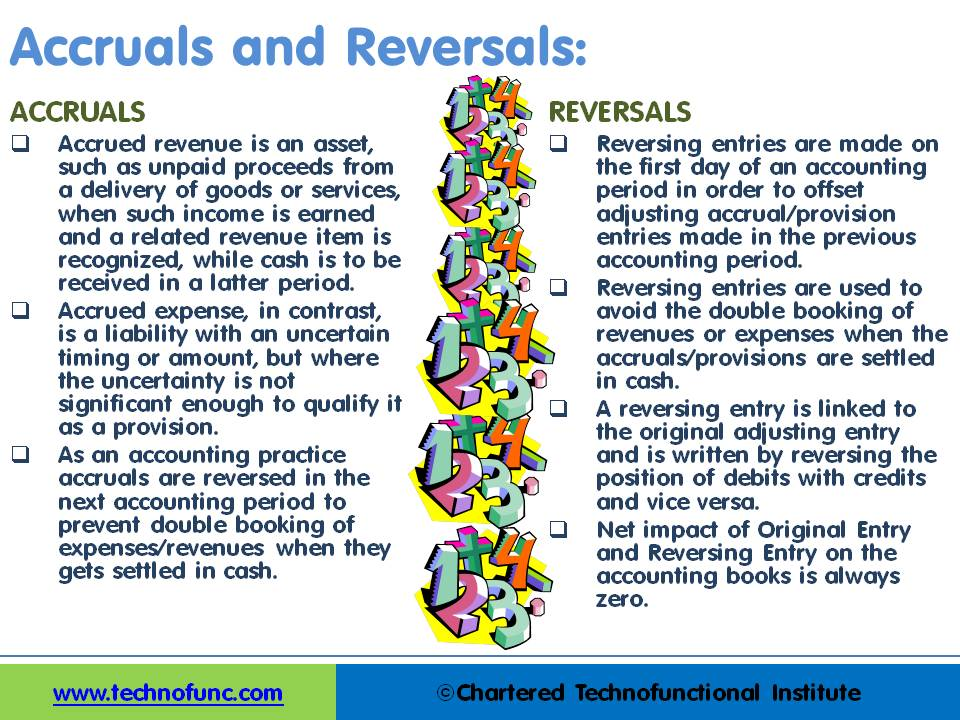 Accruals and Reversals