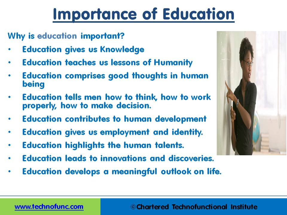 TechnoFunc - Importance of Education