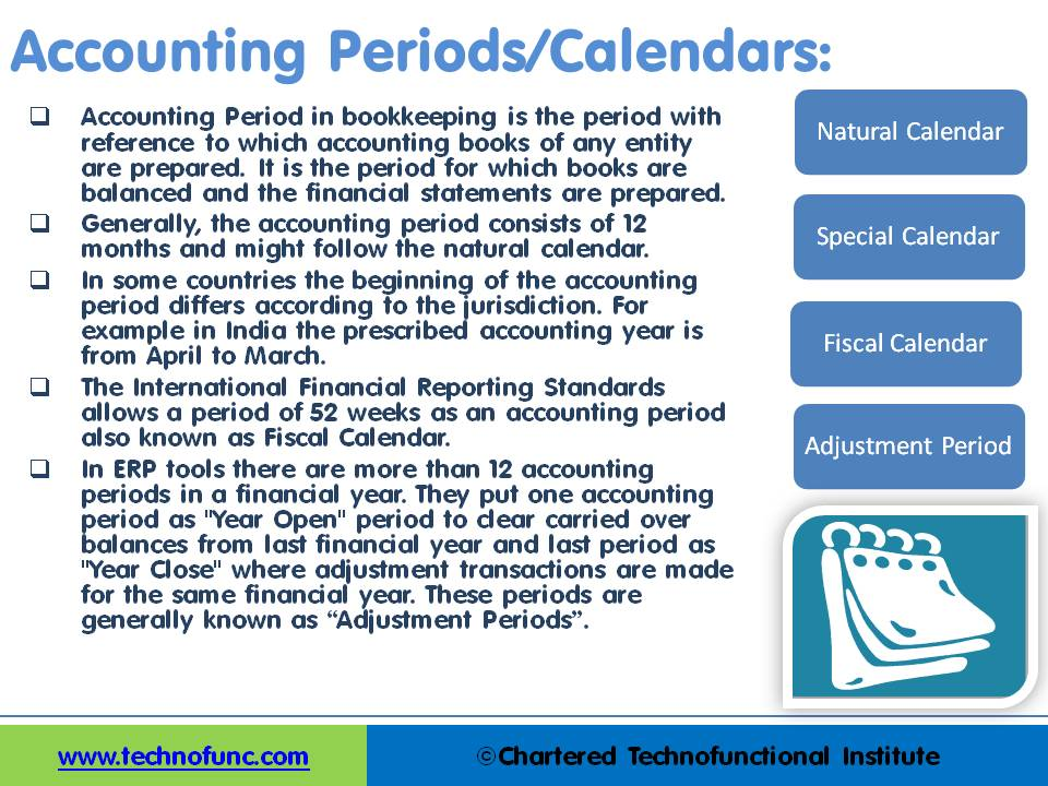 Technofunc  Accounting Periods And Calendars