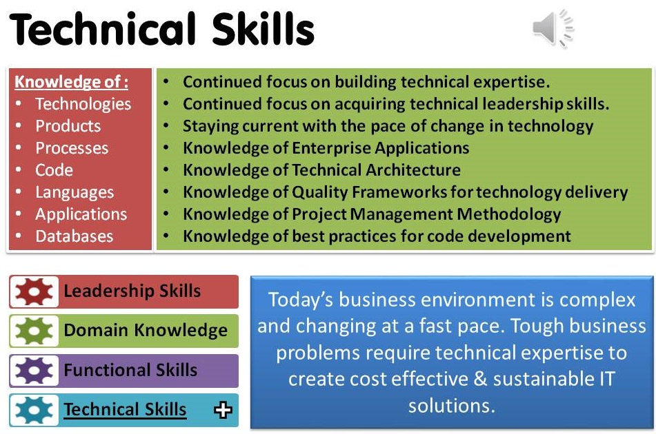 technical skills Technical accounting skills enable you to do your work efficiently and effectively as a proficient accountant they include being knowledgeable in generally accepted accounting principles, accounting research practices, use of spreadsheet applications and error checking techniques.