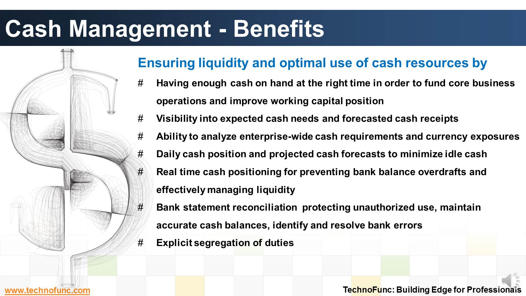 advantages and management of cash wadf Benefits of cash management software  advantages & disadvantages of dividends eric732livengood a study of cash management at standard chartered bank.